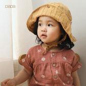 papa爬爬 春夏新品棉麻男女寶寶系帶帽子嬰兒遮陽帽42-50cm