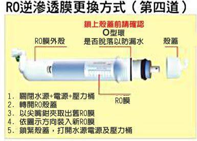 源泉淨水器專業店-LG高品質NSF認證高效能RO膜50加侖~用於RO逆滲透純水機之第四道