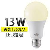【SY 聲億】13WLED燈泡黃光(6入)