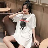 梨卡 - 網紅同款韓版可愛卡通小熊圖案寬鬆短袖T恤女BR286