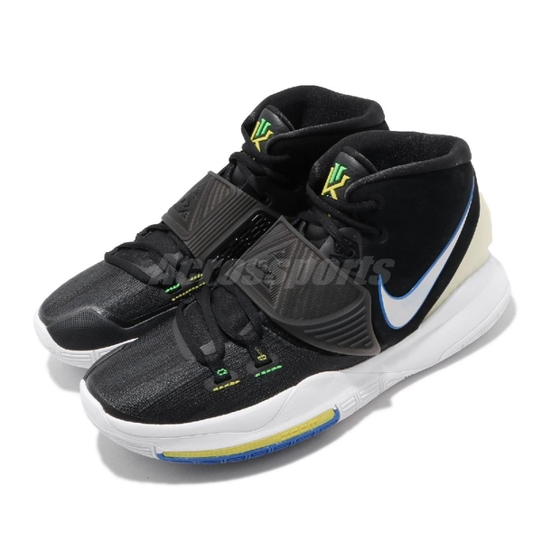Nike 籃球鞋 Kyrie 6 EP Iridescent Swooshes 黑 白 男鞋 KI6 運動鞋【ACS】 BQ4631-004
