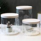 蛋糕盒甜品盒蛋糕盒圓形6寸8寸10寸單層雙層加高透明蛋糕盒雙面覆膜-凡屋FC