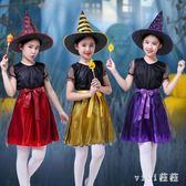 兒童萬聖節服裝 女童公主裙女巫婆cosplay化妝舞會演出服裝 nm9621【VIKI菈菈】