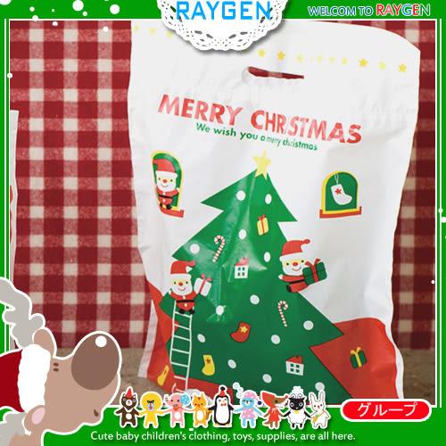 禮品包裝袋 聖誕老公公聖誕樹塑料袋 挖口提袋 單售