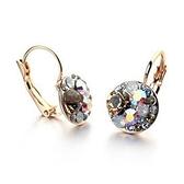 耳環 玫瑰金 925純銀鑲鑽-精緻迷人生日情人節禮物女飾品73gs32【時尚巴黎】