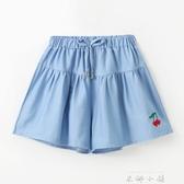 女童短褲夏季洋氣大童女孩褲裙外穿百搭兒童裙褲薄款牛仔褲子夏裝 米娜小鋪