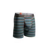 2UNDR Swing Shift 男運動內褲(6吋) 線條 藍橘線條【好動客】