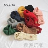 兒童圍脖男保暖女孩加厚小圍巾針織韓版男童小孩女寶寶圍巾秋冬季 極客玩家