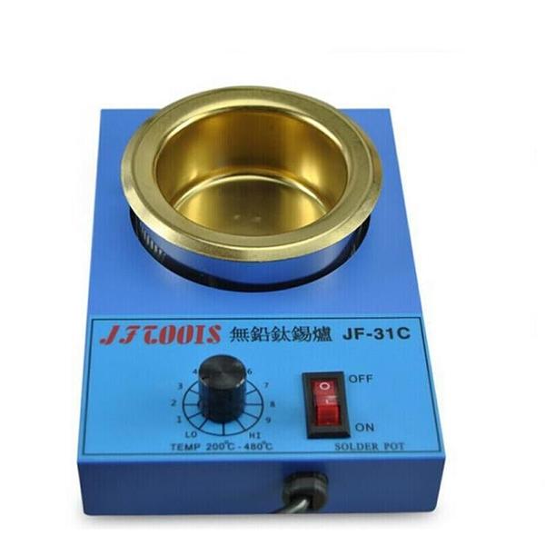 焊錫爐熔錫鍋 圓形小型可調溫 41C100MM調溫爐