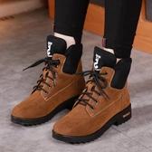 雪靴秋冬季馬丁靴英倫雪地靴chic短靴加絨棉鞋ins靴子韓版女鞋子