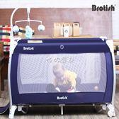 遊戲床折叠 貝魯托斯可折疊嬰兒床多功能便攜式游戲床寶寶搖床bb搖籃床311 珍妮寶貝