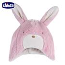 chicco-甜蜜好朋友-小兔造型毛絨護耳帽
