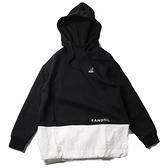 KANGOL 帽T 白黑 中性款 拼接 連帽T 情侶 男女 (布魯克林) 6055107020