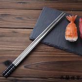 防滑防霉防燙家用金屬中空合金筷子 米蘭世家