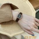 韓國簡約時尚IG風小方表學生氣質百搭小眾皮帶韓版手表女【小獅子】