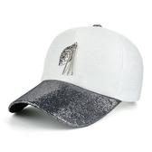 棒球帽-韓系亮片金屬棒球帽-2027- J II