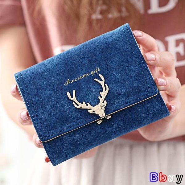 [Bbay] 短夾 短款錢包 韓版 折疊錢夾