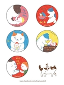 I love mommy-5入 圓形卡片組【大貓上的又凌】