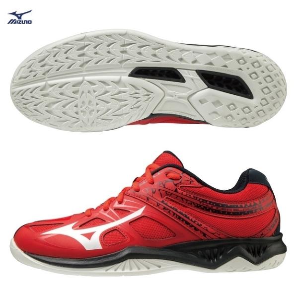MIZUNO THUNDER BLADE 2 男鞋 女鞋 排球 2.5E楦 輕量 中底發泡 紅【運動世界】V1GA197063