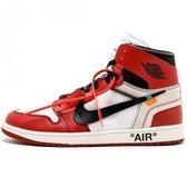 【現貨】NIKE Air Jordan 1xOFF-WHITE 聯名款 1代 芝加哥 限量 白紅 AA3834-101