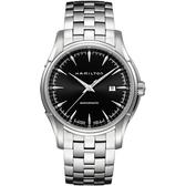 Hamilton 漢米爾頓 Viewmatic 紳士大三針機械腕錶-黑x銀/44mm H32715131