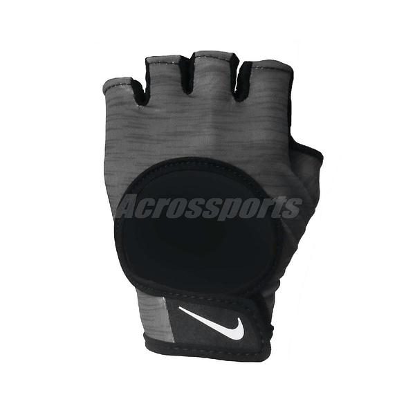 Nike 運動手套 Ultimate Heavyweight Gloves 黑 灰 女款 健身手套 訓練【ACS】 N0002555-051