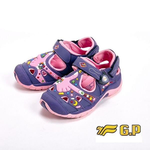 【G.P】快樂護趾童涼鞋 童鞋-紫(另有藍)