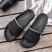 男士家居拖鞋夏天室內防滑軟底洗澡辦公室學生黑色拖鞋女夏季 深藏blue