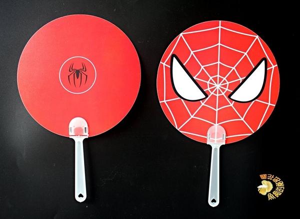 [雙面 蜘蛛人 扇子] 超級英雄/卡通人物 夏日涼扇