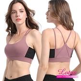 【南紡購物中心】【LOTUS】雙肩帶網紗拼接無鋼圈內衣-罌粟紫莓 AE807-PL