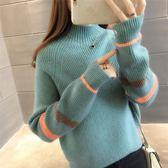 半高領打底毛衣女2019新款寬鬆套頭韓版內搭網紅學生上衣針織衫厚