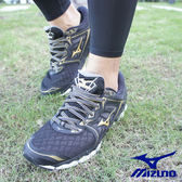 MIZUNO WAVE SKY 慢跑鞋 黑金 J1GC170250 男鞋