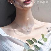 項鍊女純銀韓版簡約個性學生森繫設計銀杏s925鎖骨鍊網紅氣質 伊鞋本鋪