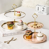 水果盤客廳家用茶幾多層下午茶點心蛋糕盤子甜品前臺展示架子輕奢 嬡孕哺