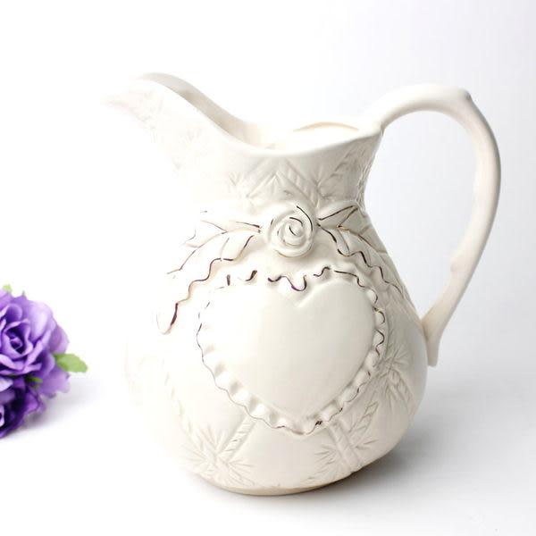陶瓷花瓶 純白色巴羅克風格黃金比例 高檔陶瓷水壺 花插 花瓶 -zd46