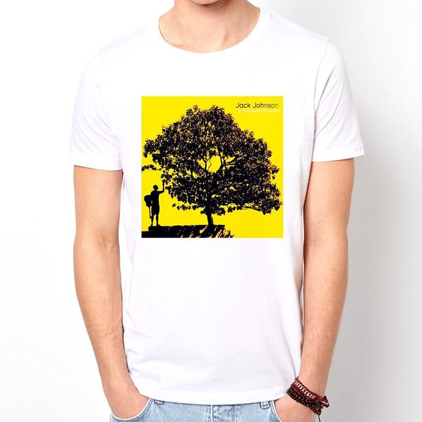 Jack Johnson-dreams短袖T恤-白色 衝浪滑板樂團搖滾相片照片美國進口 ROCK