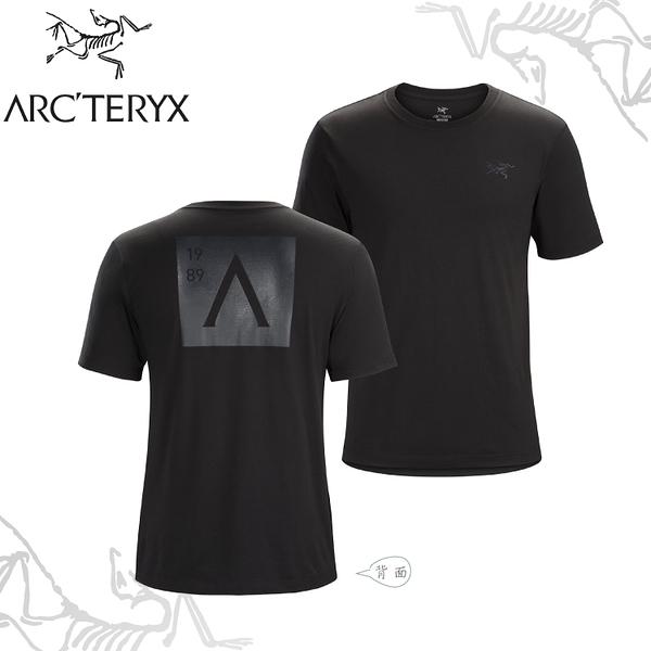 【ARC TERYX 始祖鳥 男 A Squared休閒Tee《黑》】23184/短袖T恤/運動衫/透氣/吸濕排汗/有機棉/跑步