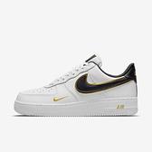 Nike Air Force 1 07 Lv8 [DA8481-100] 男鞋 休閒鞋 皮革 小金勾 球鞋 穿搭 白 黑