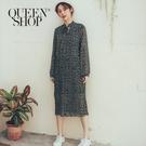 Queen Shop【01084732】小碎花皺褶綁帶洋裝 兩色售*現+預*