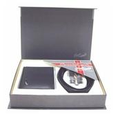 Crocodile 鱷魚-兩件式自動有齒皮帶+皮夾禮盒組 (貨號0105-0019)