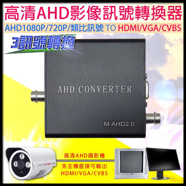 【台灣安防】監視器 AHD訊號轉換器 AHD1080P/720P 影像轉換HDMI/VGA/CVBS訊號
