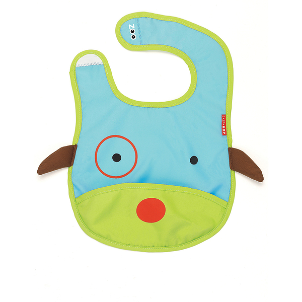 Skip Hop Zoo 口袋型嬰兒圍兜兜 狗狗 | 吃飯防水方便攜袋(嬰幼兒/寶寶/兒童)