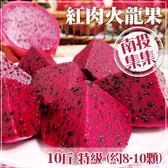 【家購網嚴選】集集農會 特級紅肉火龍果10斤裝(約8-10顆) /盒
