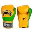 『VENUM旗艦館』12oz TOP KING 泰國名牌拳擊手套 真皮手工拳套 雙色拳套 -TKB-QT-SS2 黃綠色