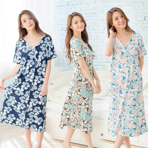【Wonderland】花卉風情居家洋裝3件組