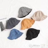 嬰兒帽 嬰兒女童寶寶漁夫帽春夏防曬太陽帽簡約多色帽子 居優佳品