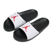 NIKE JORDAN 拖鞋 BREAK SLIDE 白黑 紅LOGO 輕量 男 (布魯克林) AR6374-016