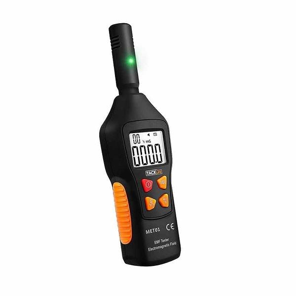 EMF輻射測量儀 LCD-MET01三級警報通知 範圍達5Hz—3500MHz Electromagnetic Field Radiation Detector [9美國直購]