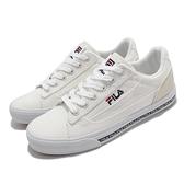 Fila 帆布鞋 Classic Kicks L 2.0 男鞋 白 米 基本款 休閒鞋 【ACS】 1C932V123
