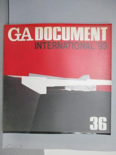 【書寶二手書T1/建築_QAA】GA Document 36